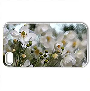 ANEMONE HUPEHENSIS - Case Cover for iPhone 4 and 4s (Flowers Series, Watercolor style, White)