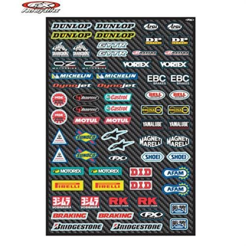 Factory Effex Street Micro Sponsor Sticker Sheet (15-68002) - Factory Effex Decals