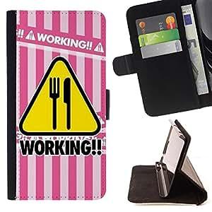 King Case - FOR LG OPTIMUS L90 - Pleasant to work - Prima caja de la PU billetera de cuero con ranuras para tarjetas, efectivo Compartimiento desmontable y correa para la mu?eca