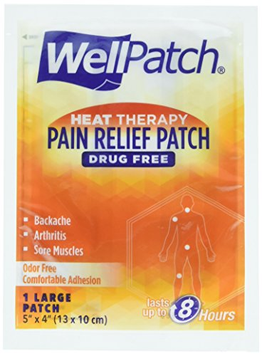 WellPatch Heat Therapy Pain Relief Patch for Backache, Arthritis or Sore Muscles - Drug Free, Odor Free - 15 Large Patches, 5 x 4 Inch