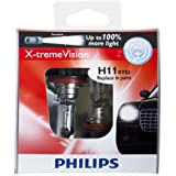 Philips H11 X-tremeVision Upgrade Headlight Bulb (Pack of 2)