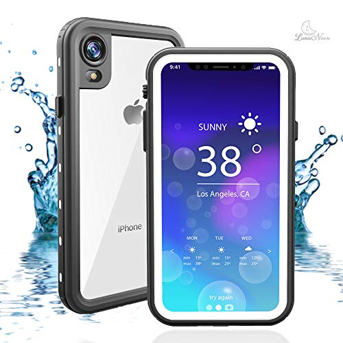 iPhone Xr Waterproof Case High Full-Body Protection Clear With Built in Screen Protector Shockproof Dropproof Snowproof For Swimming, Sports, Trips 6.1inch, Underwater Protective Case IP68 Certified