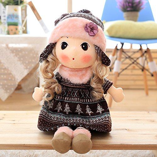 40cm brown Snow rhyme Little Girl Doll Cute plush toys for girls A birthday present Stuffed toys Soft cuddly toys baby doll