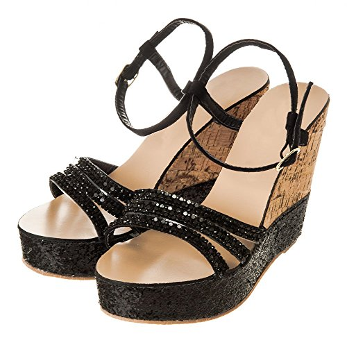 Diva Negro Zapatos Mujer Tacón Miss De pTdqx6q0w