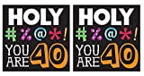 Holy Bleep You're 40 3-Ply Lunch Napkins 16 Per Pack (2 pack)