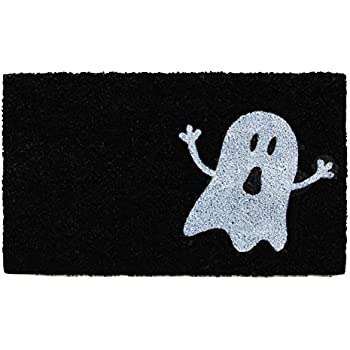 Home & More 102001729 Ghost Doormat, Black/White