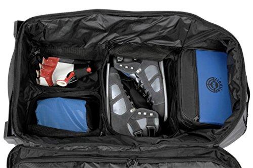 ahg Anschütz Uni Sporttasche Xxl mit Rollen und Haltegriff #296 Transporttasche, Silber/Blau, 85 x 42 x 45 cm