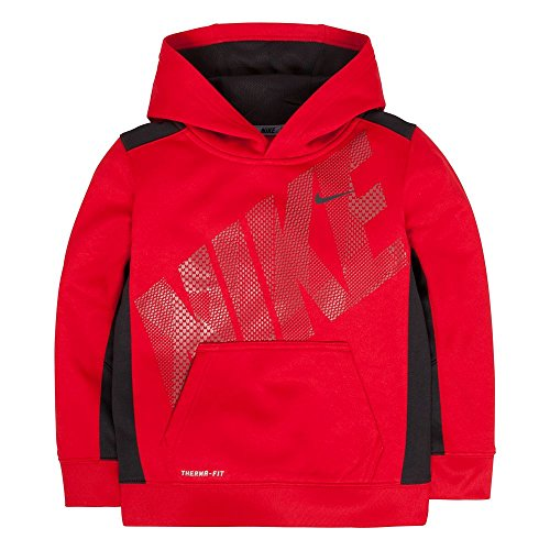 Boys 4-7 Nike KO 3.0 Therma-FIT Fleece Hoodie, Gym Red, 4