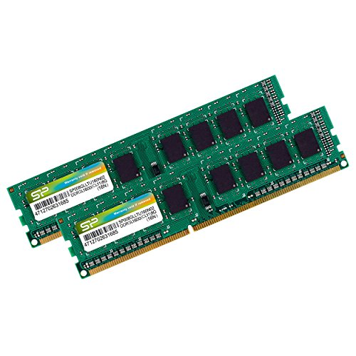 Silicon Power 16GB Kit DDR3-1600 MT/s 240 Pin Dual 1.35V/1.5V UDIMM Desktop Memory SP016GLLTU160N22 by Silicon Power (Image #1)