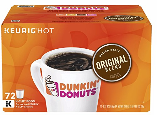 Dunkin Donuts K-Cups Original Flavor - 0.42 oz, 72 - Central Valley Outlets Premium