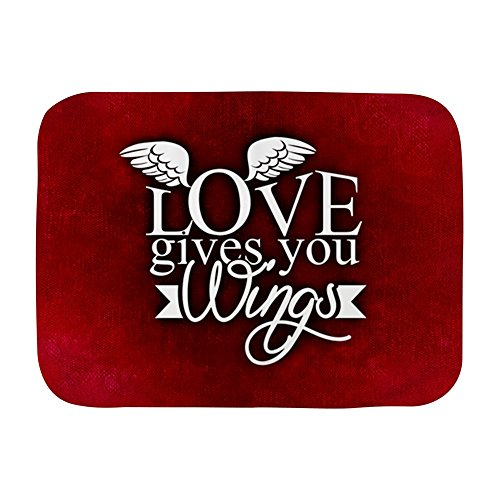 Truly Teague Baby Blanket White Love Gives You Wings by Truly Teague