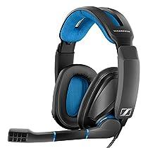 Sennheiser GSP 300 - Microauricular cerrado para gaming, color negro y azul