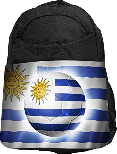 Rikki Knight UKBK Brazil World Cup 2014 Uruguay Football Soccer Flag Tech BackPack - Padded for Laptops & Tablets Ideal for School or College Bag BackPack (Cup World Uruguay)