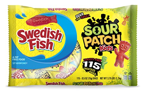 Sour Patch Kids Seasonal Swedish Fish Bag, 3.75 Pound