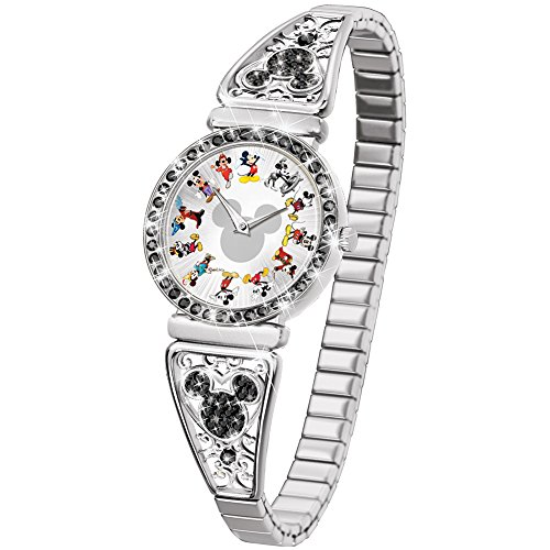Disney Mickey Mouse Through The Years Women's Stretch Watch by The Bradford (Disney Mickey Round Charm)