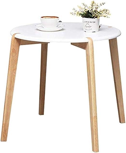 ZXH77f Mesa Plegable Nordic Small Round Table Bed Mesa pequeña ...