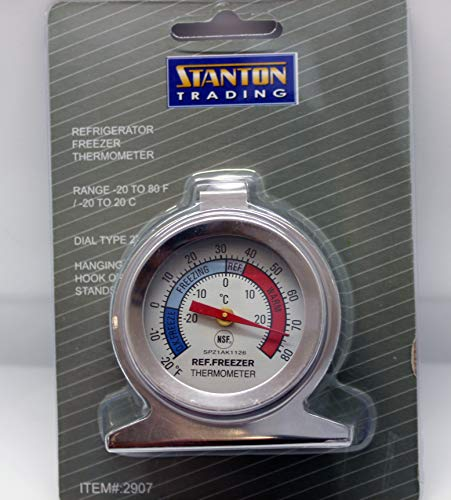 Stanton Trading Refrigerator/Freezer Thermometer, -20 to 85° F (-30 to 30° C), dial type by Stanton Trading