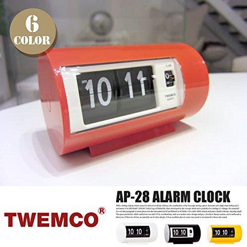 AP-28 ALARM CLOCK(アラームクロック) パタパタクロック TWEMCO(トゥエンコ) オレンジ B00Q9QWHPKオレンジ