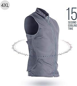 settlede Cool Vest Summer Ice Pack Vest, Quick Cooling, Lightwight Adjustable Evaporative Cooling Vest USB Rechargeable Sports Cooling Vest for Men Women for Fishing, Cycling, Running