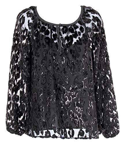 J Crew Popover in Burnout Velvet Leopard Top Blouse for sale  Delivered anywhere in USA