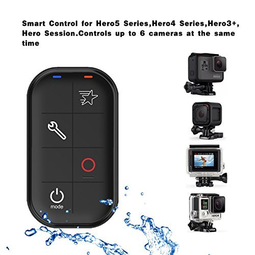 GoPro Smart Remote Wireless Remote Control Waterproof Gopro Hero LCD, GoPro Hero 7 Black Hero 6 Hero5 Session, Hero4 Silver, Hero4 Black, Hero Session/Including Wrist Strap Magnetic Charger