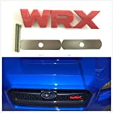 grille badges - Zizii Red WRX Grille Badge Emblem 2015-2018 For Subaru (Red)
