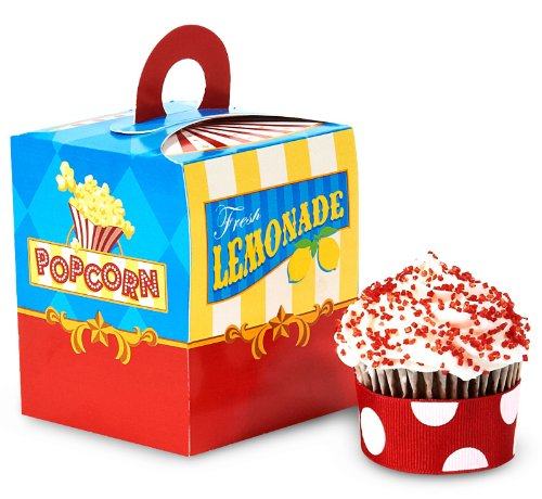 Carnival Games Party Supplies - Cupcake Boxes (4)