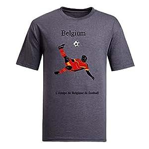 Custom Mens Cotton Short Sleeve Round Neck T-shirt,2014 Brazil FIFA World Cup teams gray by Maris's Diary