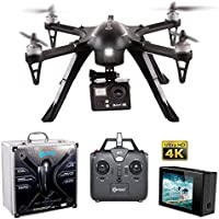 Contixo F17+ RC Quadcopter Photography Drone 4K Ultra HD Camera 16MP, Brushless Motors, 1 High Capacity Battery, Supports GoPro Hero Cameras, Alum Hard Case - Best Gift