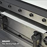 KAKA 3-In-1/8 Sheet Metal Brake, 8-Inch Shear Brake Roll Combinations, Solid Construction, Sheet Metal Brakes, Shears and Slip Roll Machine