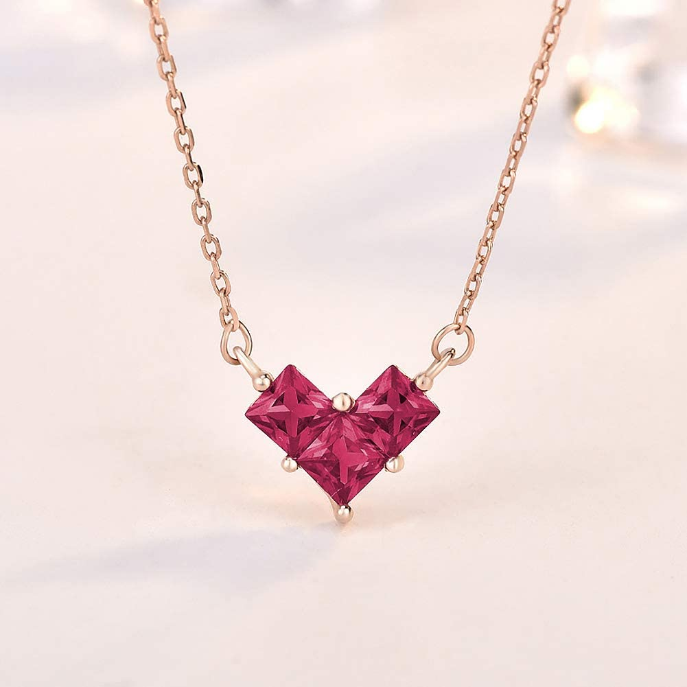 42 Year Old Birthday Gifts for Women 925 Sterling Silver Womens Red Heart Necklace 42nd Birthday Gifts for Women Funny 42nd Birthday Gifts for Women