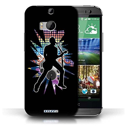 Etui / Coque pour HTC One/1 M8 / Chanteur Noir conception / Collection de Rock Star Pose