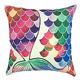 Best Case Pillowcases For Sofas - YOUR SMILE Mermaid Cotton Linen Decorative Throw Pillow Review