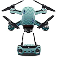 Skin for DJI Spark Mini Drone Combo - Smooth Sailing| MightySkins Protective, Durable, and Unique Vinyl Decal wrap cover | Easy To Apply, Remove, and Change Styles | Made in the USA