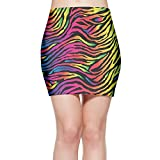 Rainbow Zebra Skin Women¡¯s Bodycon Mini Knit Basic Stretch Short Pencil Skirt