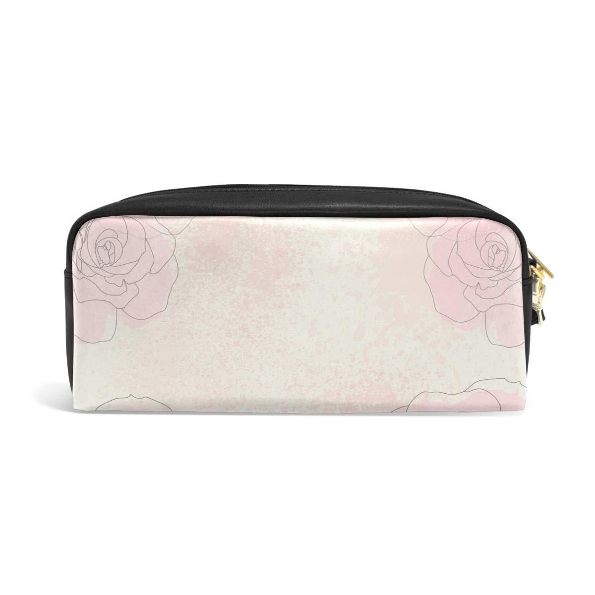 cedb6d7dad69 color rosa Estuche de gran capacidad con cremallera para artículos de  papelería y lápices ISAOA para ...