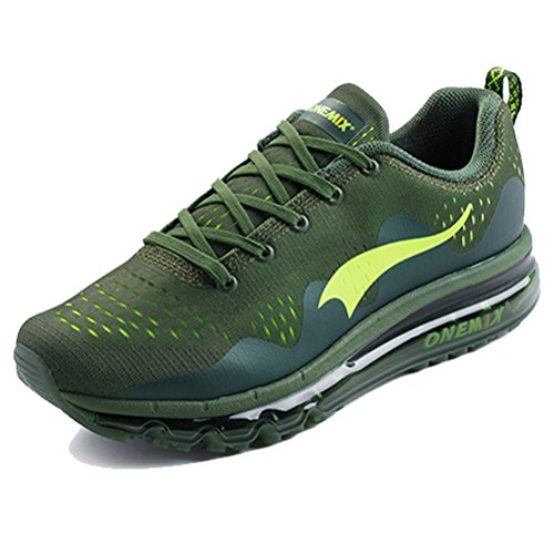 Men's Running Shoes Air Cushion Mesh Breathable Knit Outdoor Walking Shoes