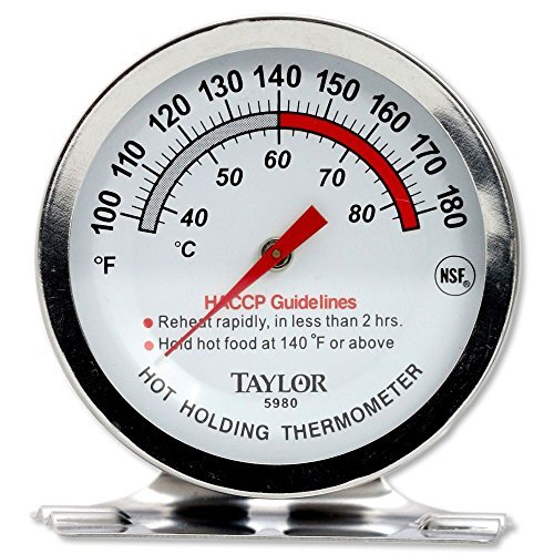 (Taylor Precision 5980N Professional Series Hot Holding Thermometer, NSF (100° to 180°F))