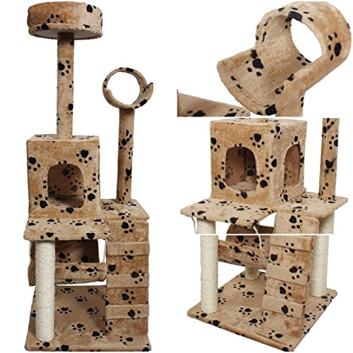 imperial-popular-size-52-cat-tree-pet-house-fun-toy-play-kittens-furniture-color-beige-paws