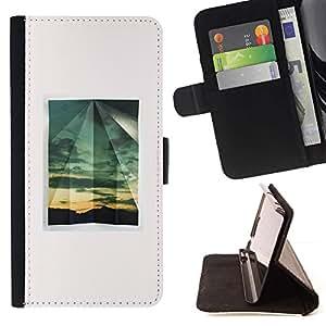 For Samsung Galaxy Note 4 IV Case , Minimalista ventana verano- la tarjeta de Crédito Slots PU Funda de cuero Monedero caso cubierta de piel