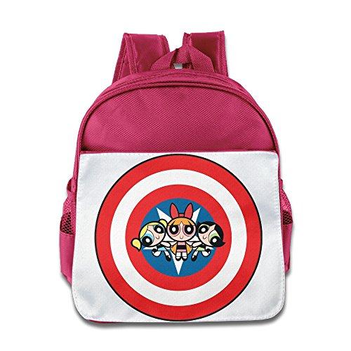 HYRONE The Girls Cartoon Boys And Girls School Backpack For 1-6 Years Old Pink (Rowdyruff Boys)