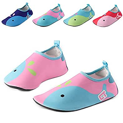 Vivay Kids Water Shoes Girls Boys Toddler Quick Dry Anti Slip Aqua Socks for Beach Outdoor Sports Multi-Color Size: 3-4 Toddler