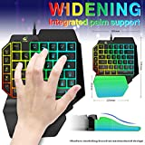 One Hand Gaming Keyboard and Mouse Combo, 39 Keys