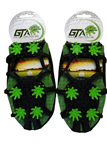 Due North Golf Traction Aid - Cleats for Turf - Removable Spikes for Your Shoes - Turn any Sneaker into Golf Treads - Crampons for Men and Women - No Slip, Grips Turf - Fit Most Footwear
