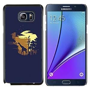 YiPhone /// Prima de resorte delgada de la cubierta del caso de Shell Armor - Moonlight Safari de la jirafa - Samsung Galaxy Note 5 5th N9200
