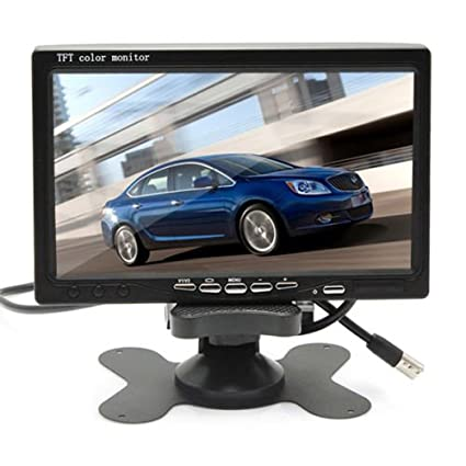 30FT Video Extension Cable Auto Trigger 7 LCD HD Monitor + Heavy Duty Camera E-KYLIN Car 12V 24V Truck Parking System IR Night Vision 10M