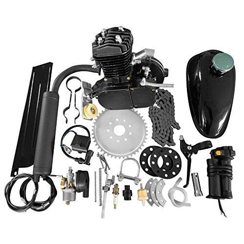 50cc Bicycle Engine Kit 2-Stroke Gas Motorized Motor Bike Kit Black (Bicycle Motor Gas)