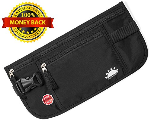 RFID Blocking Money Belt for Travel by MyTravelBFF, Keep Your Passport Hidden! by MyTravelBFF (Image #7)