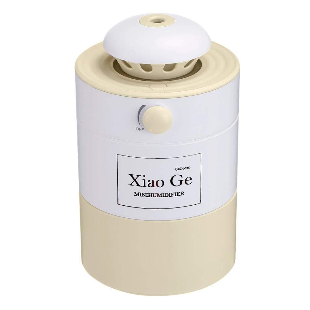 調節可能な500mL USB空気加湿器アロマディフューザーナイトライト(スカイブルー) niomou B07PVGXRTH ベージュ  ベージュ