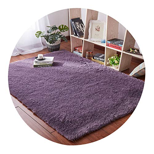 Living Room Coffee Table Blanket Nordic Style Long Hair Carpet Bedroom Bedside mat Thickened Washed Silk Hair Non-Slip Rug,3,80 - Tibetan Carpet Chinese